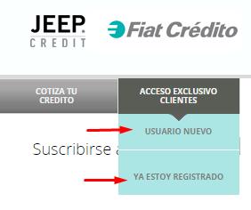 registrarse en fiat crédito