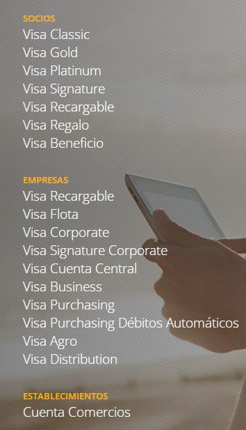seleccionar visa