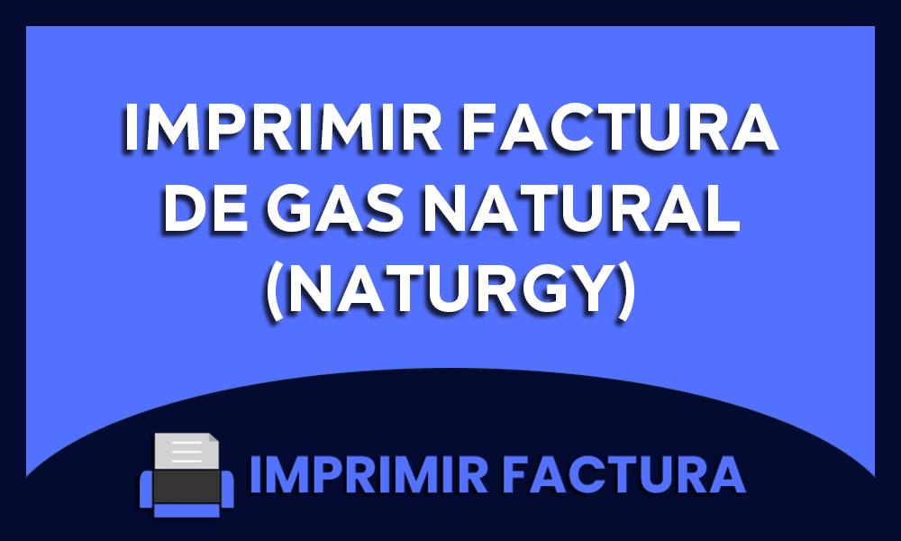 imprimir factura de gas natural naturgy